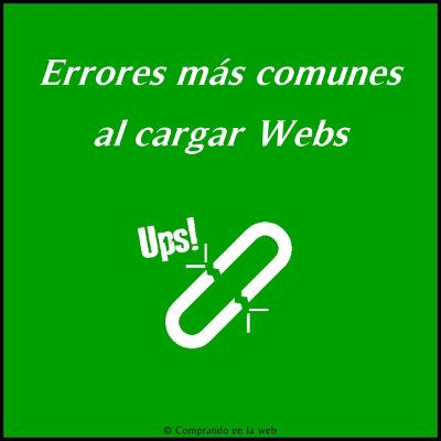 errores de carga web