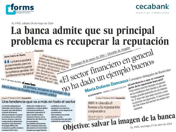 informe reputacion sector financiero 2014